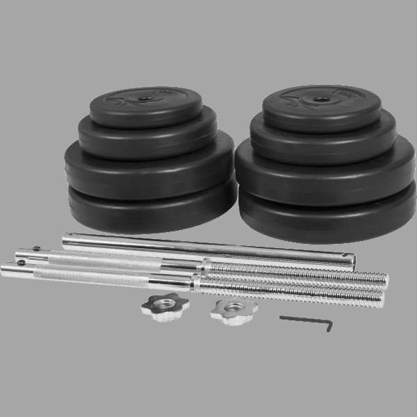 Barbell bar sett 25 mm vinyl 60 kg - Økonomi