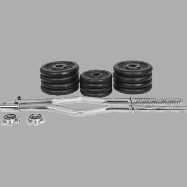 Curlsett - 25 mm helstøpte vektskiver - 30 kg - Økonomi