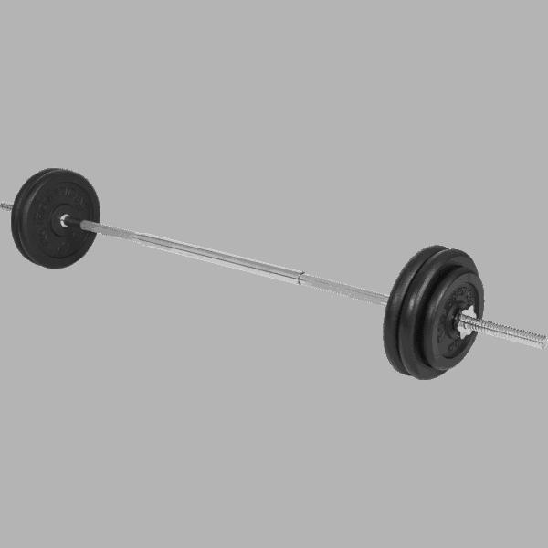 Vektsett - 25 mm - Helstøpte vektskiver - 56,5 kg - Økonomi