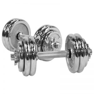Chrome Dumbbell Vektsett – 30 kg