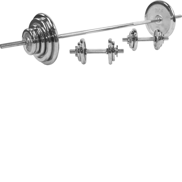 Chrome Barbell Vektsett – 100 kg
