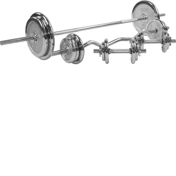 Chrome Komplett Vektsett – 108 kg