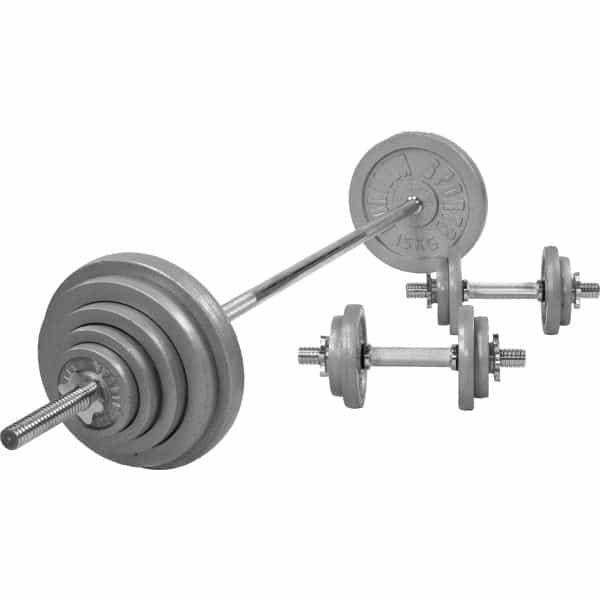 Cast Iron Barbell Vektsett – 100 kg