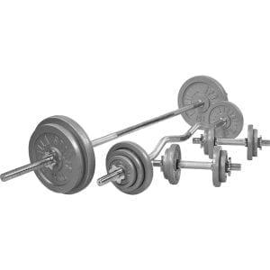Cast Iron Komplett Vektsett – 108 kg