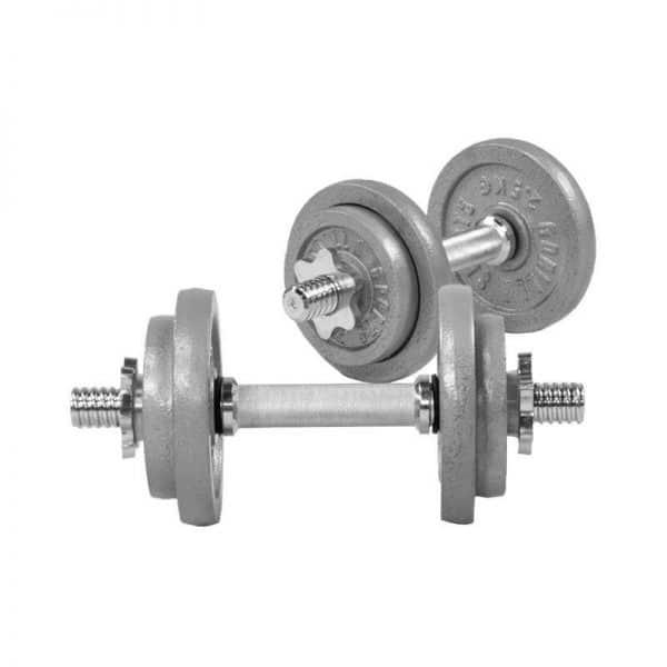 Cast Iron Dumbbell Vektsett – 20 kg