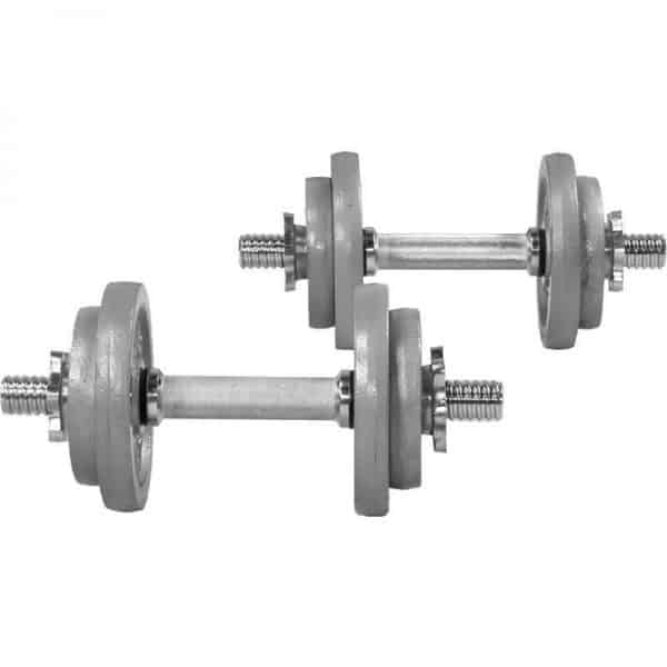 Cast Iron Dumbbell Vektsett – 20 kg
