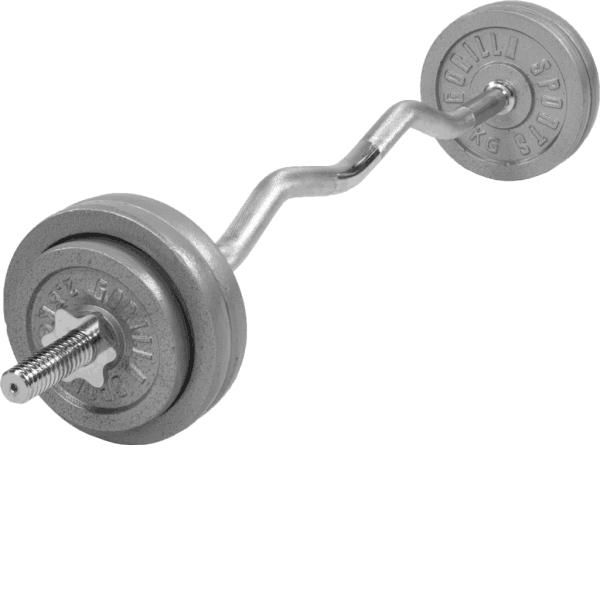 Cast Iron EZ Curl Vektsett – 35 kg