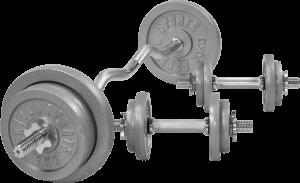 Cast Iron EZ Curl Vektsett – 70 kg