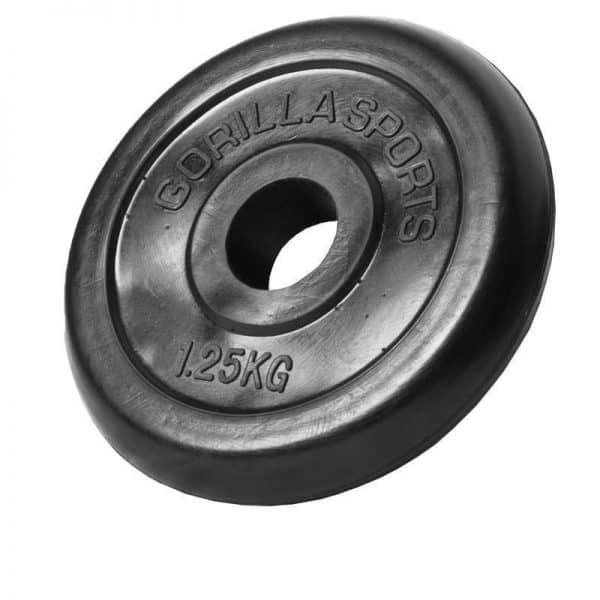 Black Rubber EZ Curl Vektsett – 35 kg
