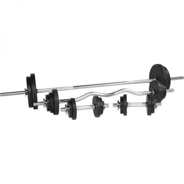 Black Rubber Komplett Vektsett – 108 kg