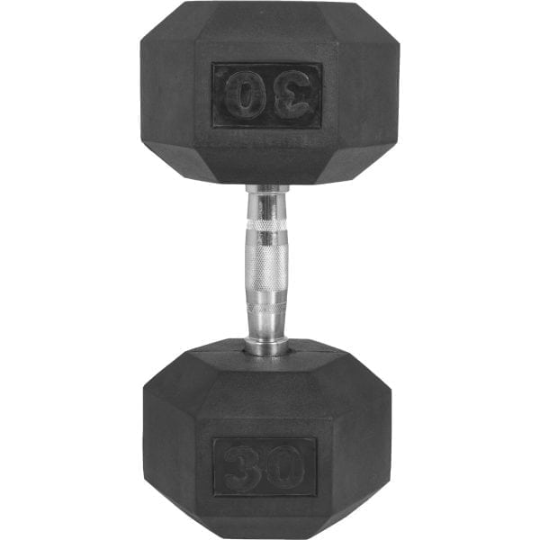 Hex Rubber Dumbbell 10 kg – 50 kg