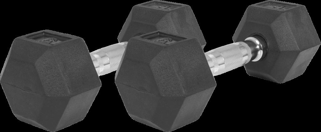 Hex Rubber Dumbbell 2 kg – 32,5 kg