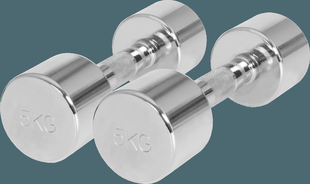 Pair Chrome Fixed Dumbbells 1 kg – 20 kg