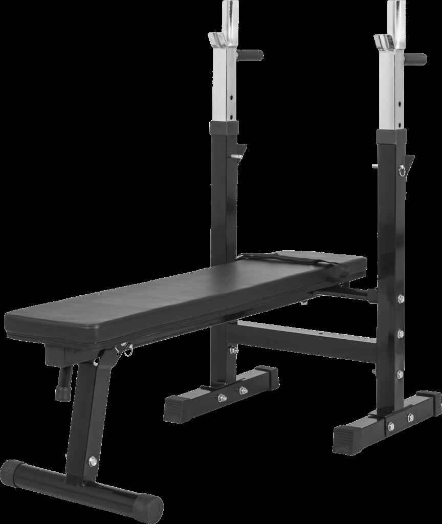 Treningsbenk med justerbar Barbell Rack