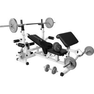 Universal Treningsbenk inkl. Cast Iron Vektsett 108 kg
