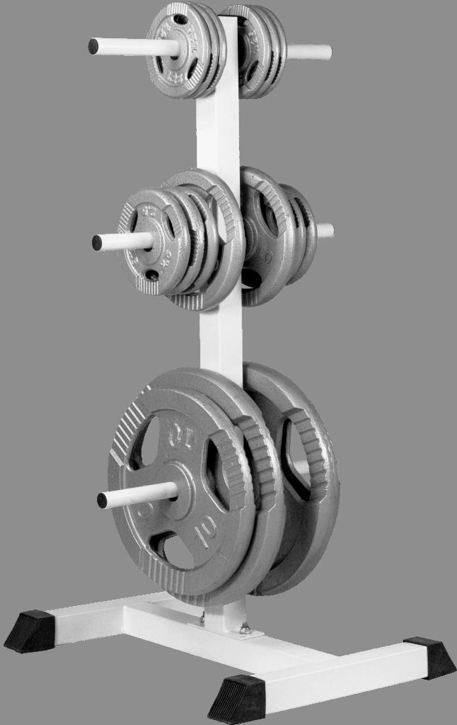 Vektskive Rack – Hvit