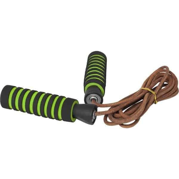 Gorilla Sports Leather Jump Rope – Hoppetau i lær