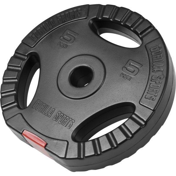 Vinyl Tri Grip Vektskive – 1,25 kg – 15 kg