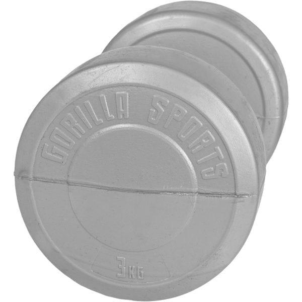 Plastbelagt Dumbbell – 1 kg – 5 kg