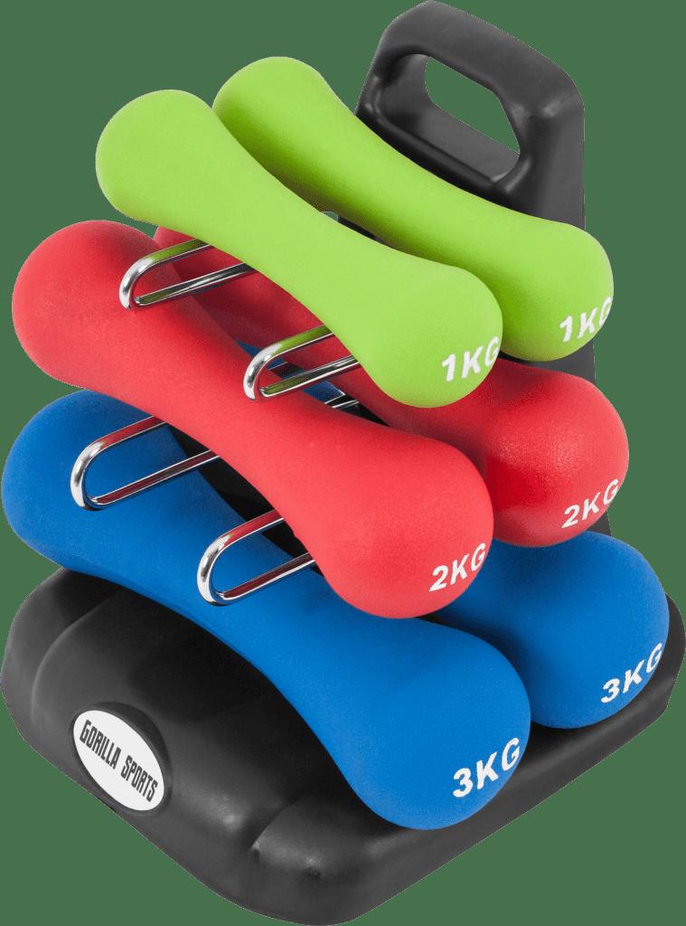 Ergonomisk Dumbbell Sett – 12 kg