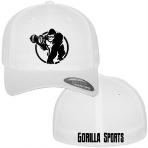 Gorilla Sports Wooly Combed Caps – Hvit