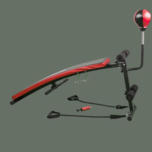Sammenleggbar sit-ups-benk med punchingball