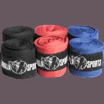 Boksebandasje - Gorilla Sports (Sort, Rød, blå)
